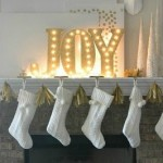 DIY Gold Mantel Letters