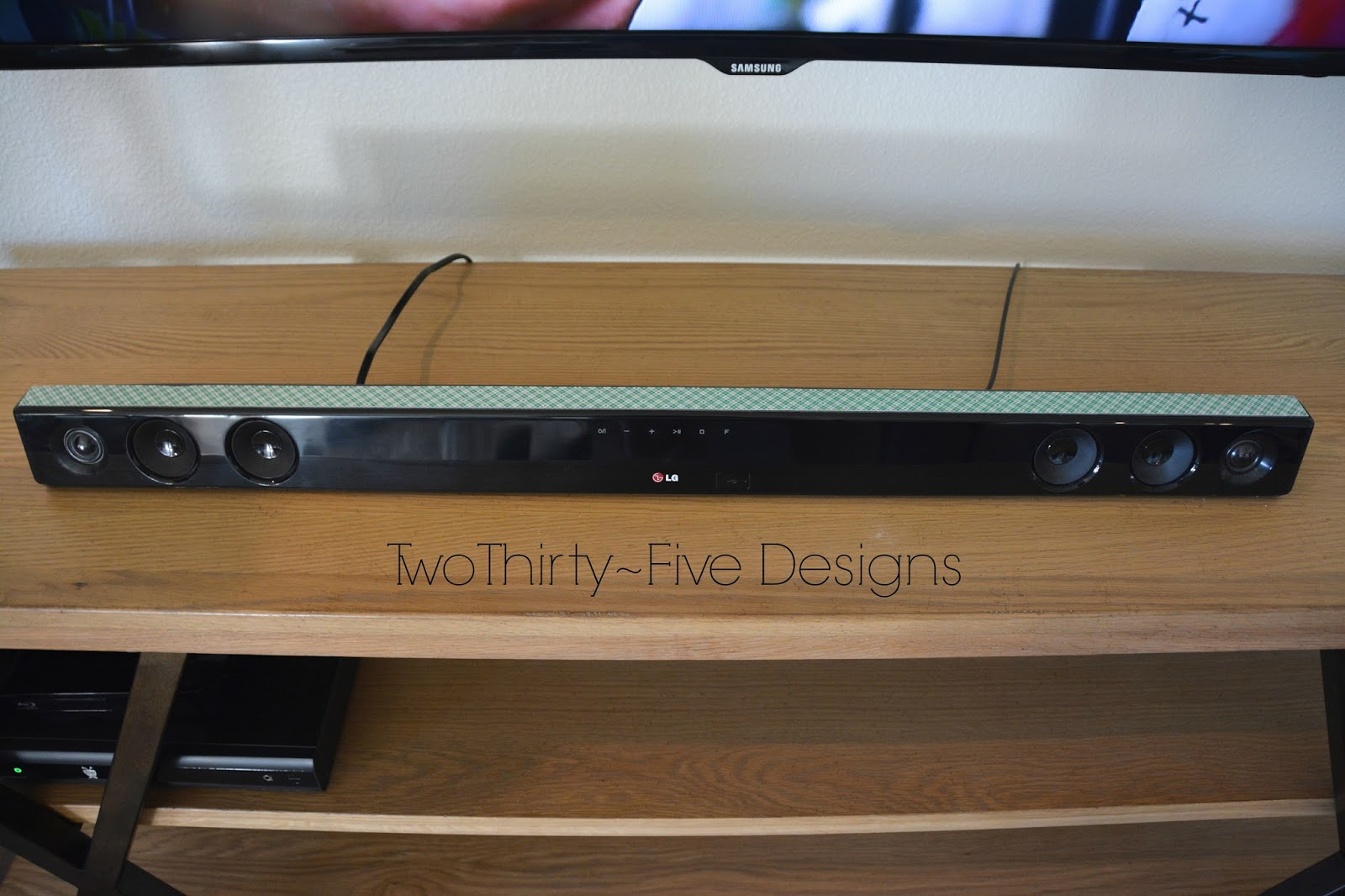 Diy Wall Mounted Television Hidden Cords Two Thirty Five Designs
