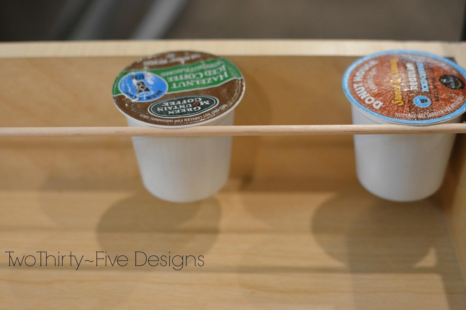 2 Diy K Cup Organizer Two Thirty Five Designs