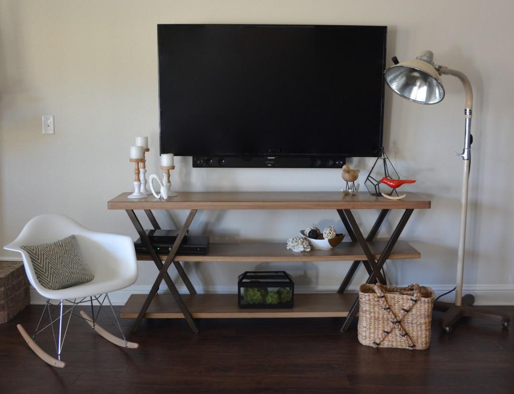 diy wall mounted television hidden cords. Black Bedroom Furniture Sets. Home Design Ideas