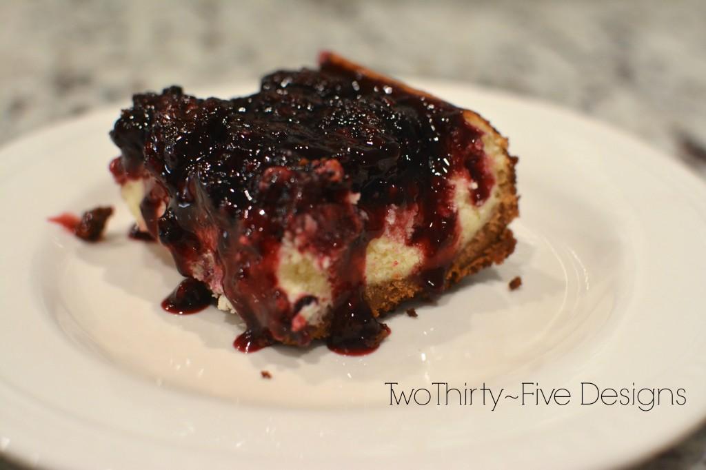 Pioneer Woman's Blackberry Cheesecake Squares