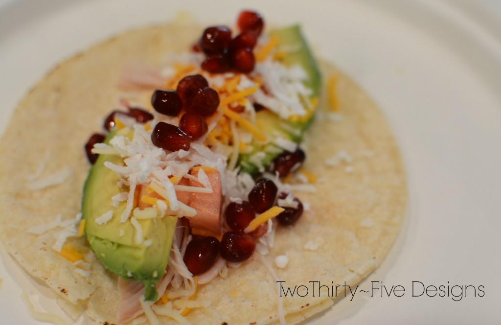 Chicken Pomegranate Tacos