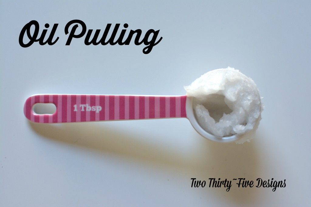 Oil Pulling...and why you should think about it.