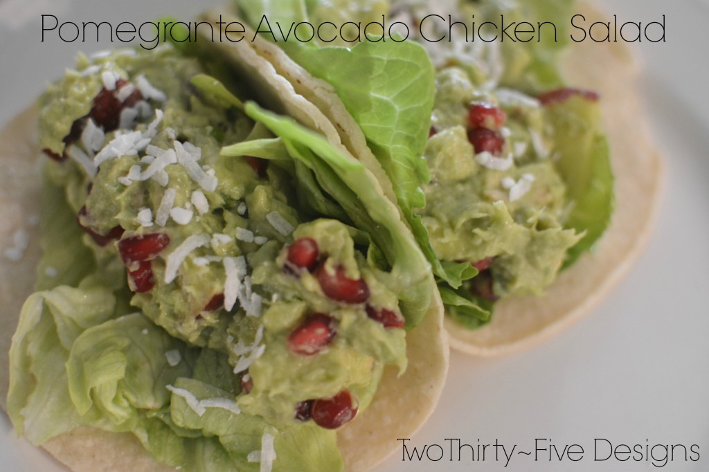 Pomegranate avocado chicken salad two thirty five designs - Deseed pomegranate less one minute video ...