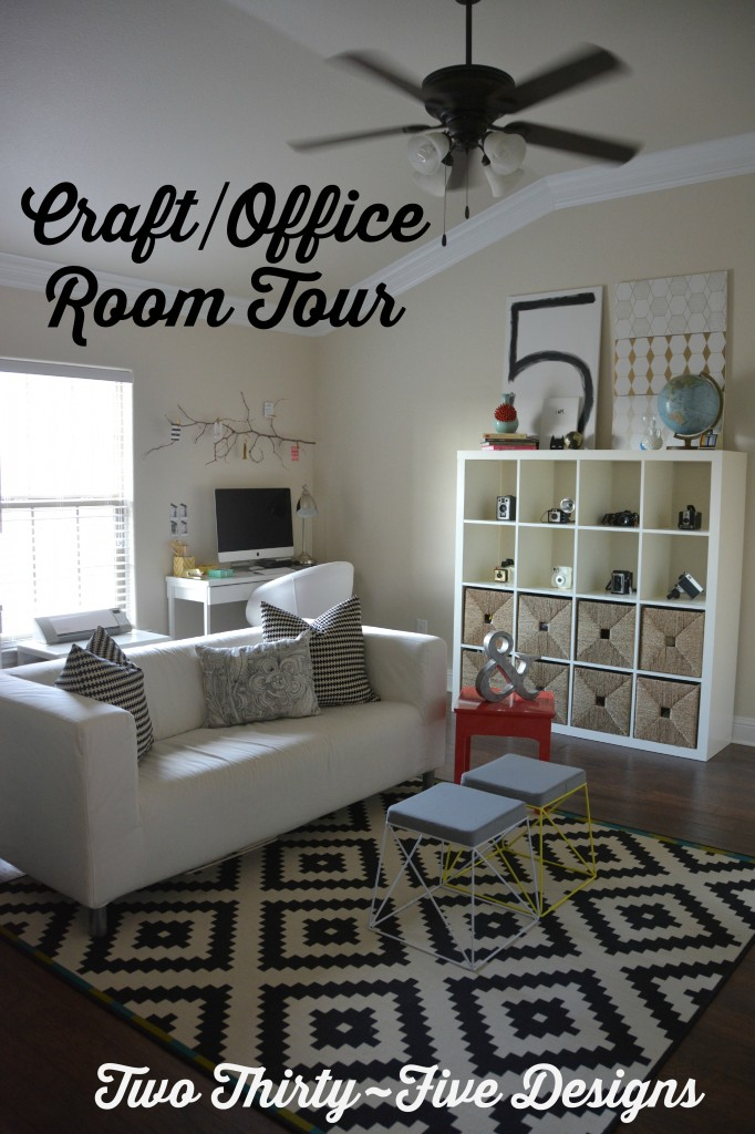 Craft Room Office Tour Two Thirty Five Designs