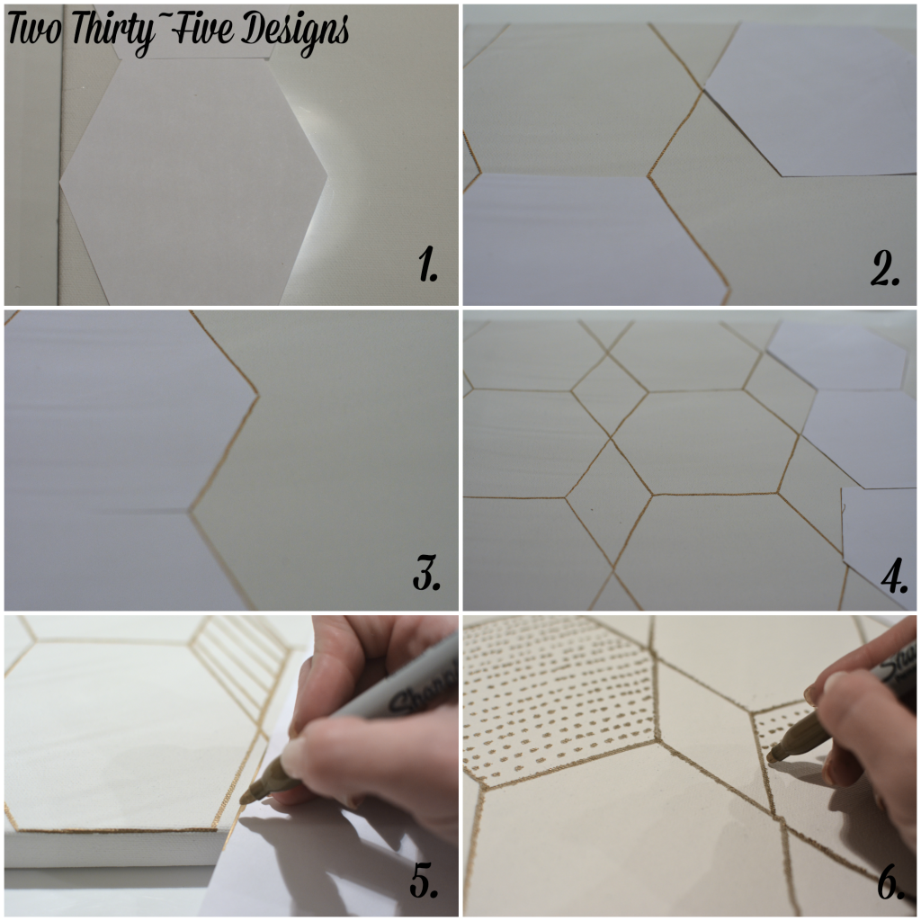 DIY Geometric Canvas
