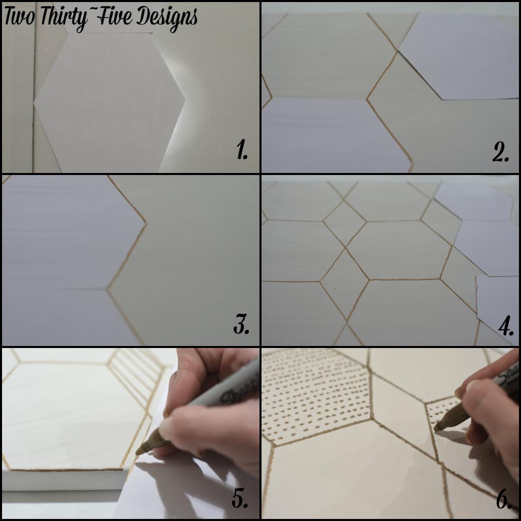 DIY Geometric Canvas