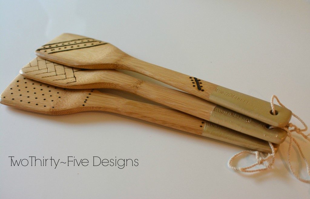 DIY Dipped Engraved Spoons