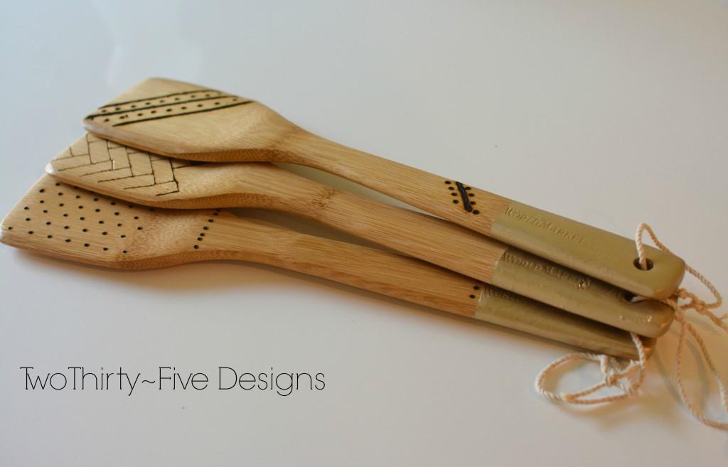 DIY Dipped Engraved Spoons