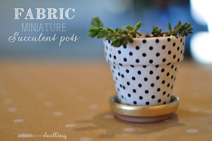 Fabric Miniature Succulent Pots