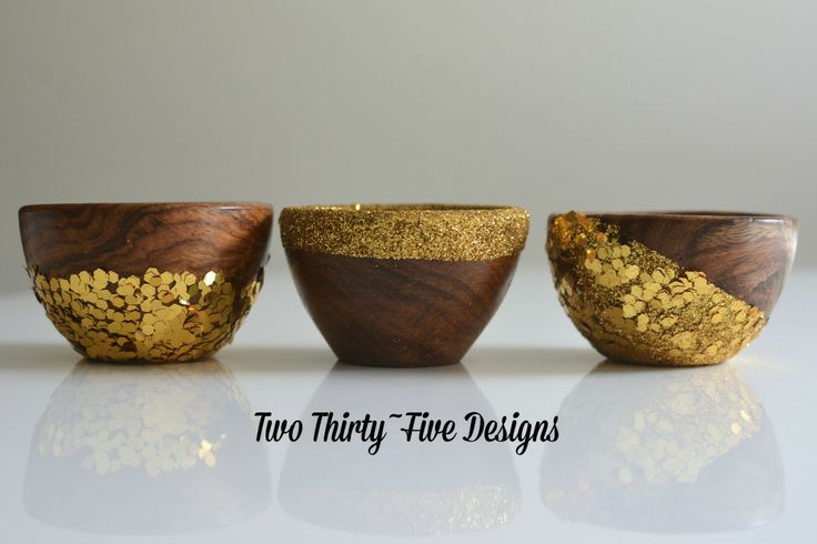 Gold Glitter Dipped Bowls