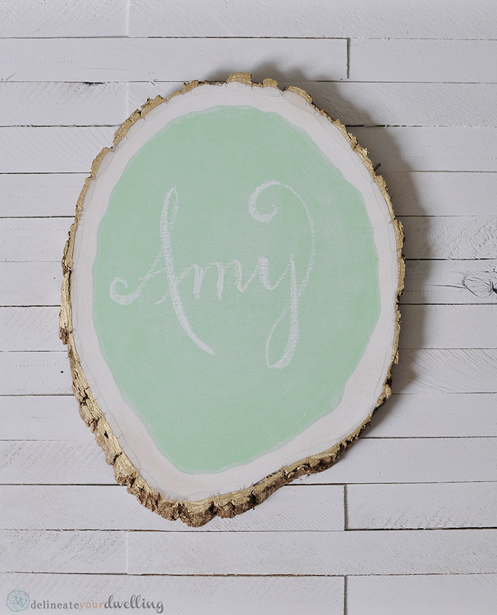 5 Tree Stump Chalkboard