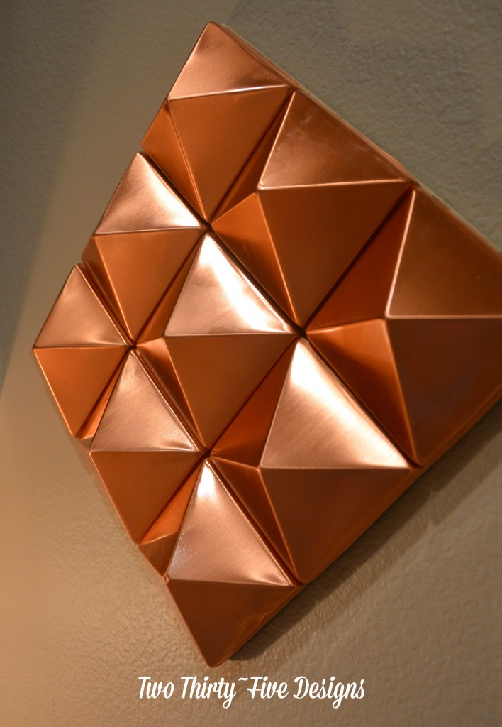 Abstract Copper Pyramids TwoThirtyFiveDesigns.com