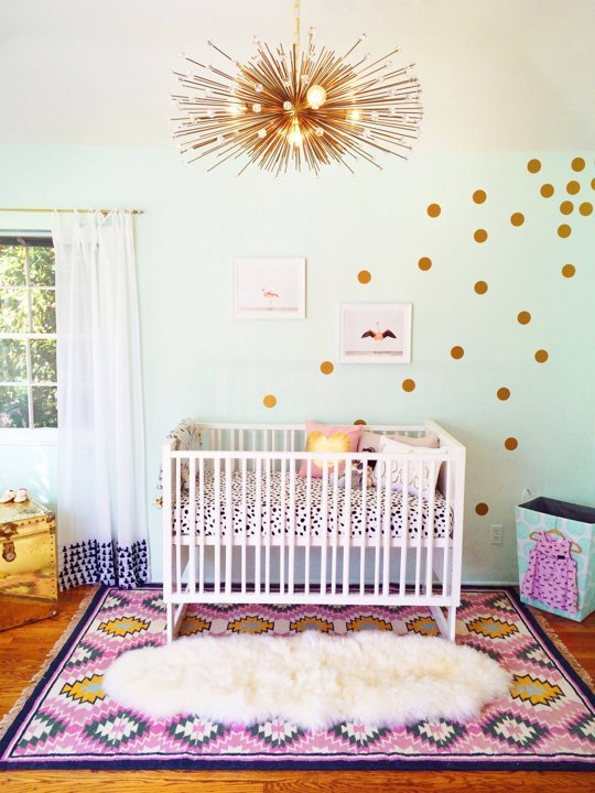 Apartment Therapy Girly Nursery TwoThirtyFiveDesigns.com