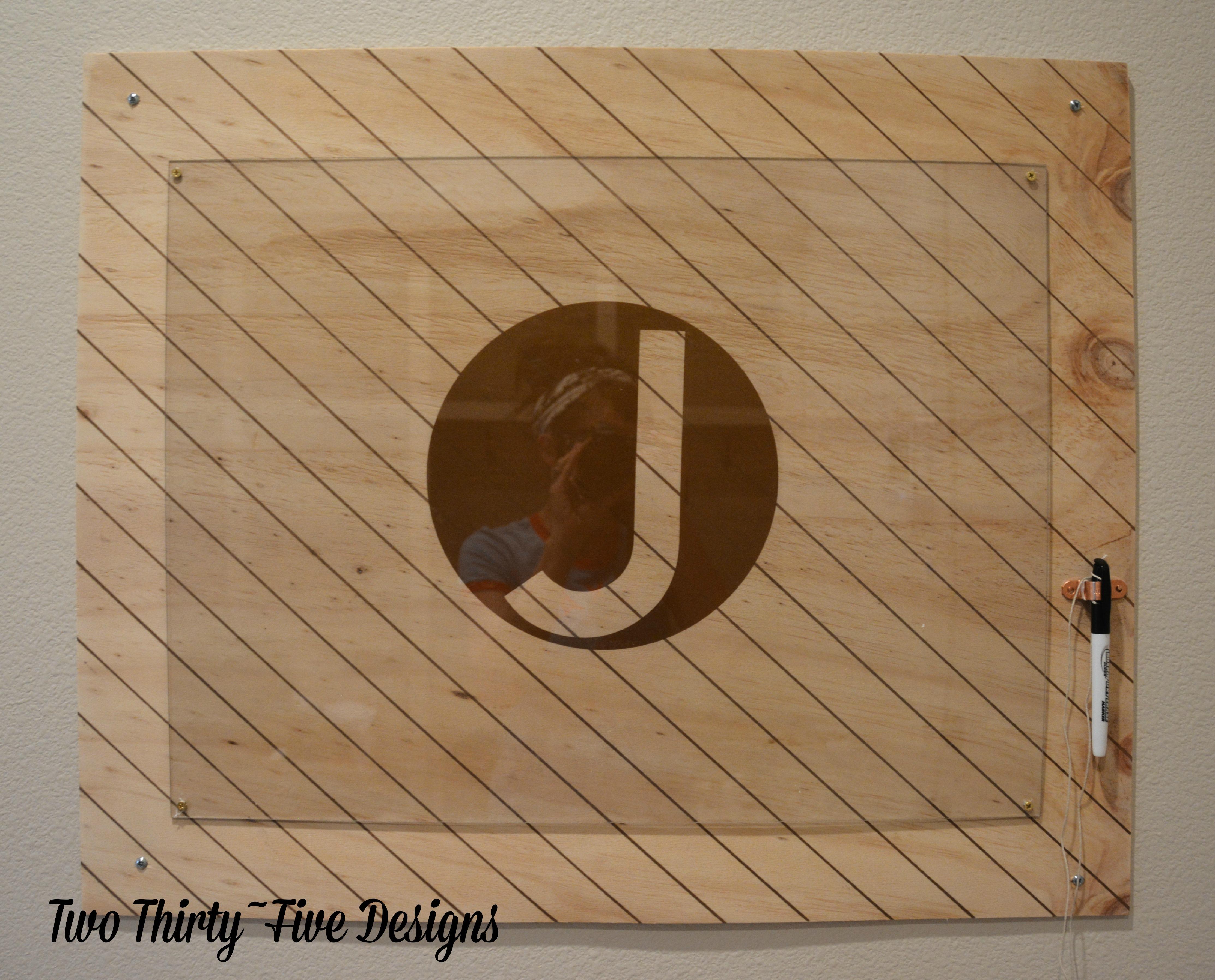 Clear Dry Erase Board