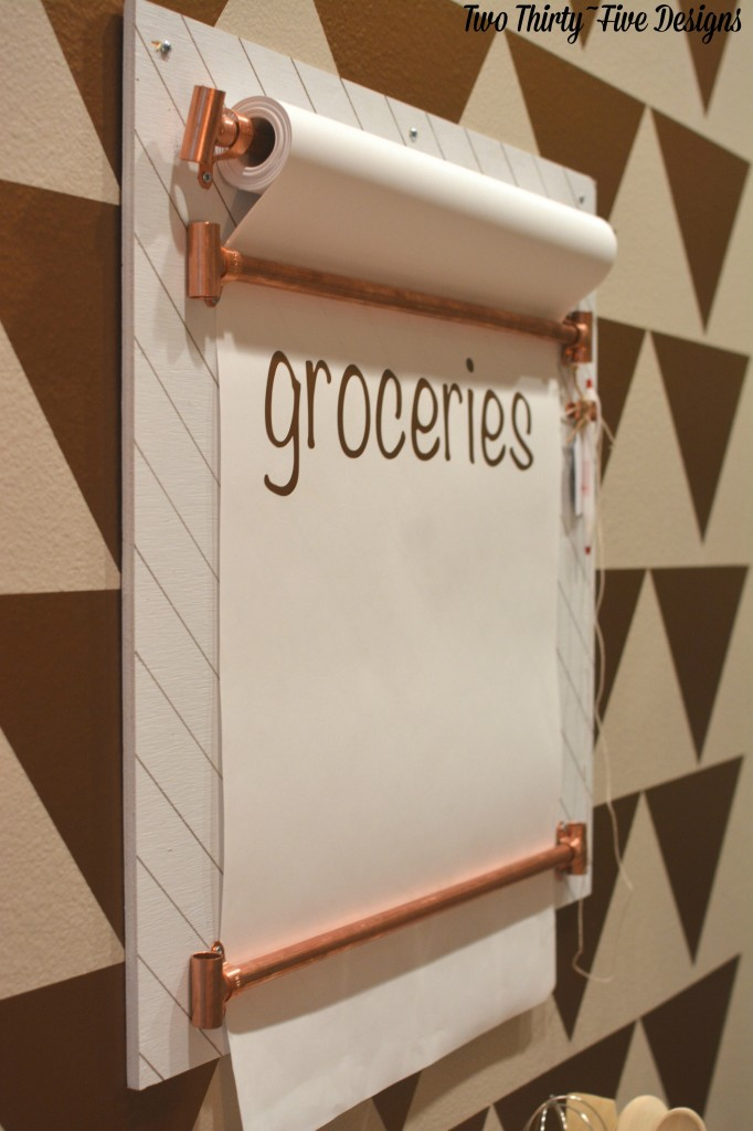 Copper DIY Grocery List by TwoThirtyFIveDesigns.com