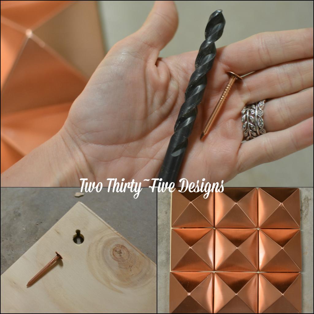 Copper Diamond Collage TwoThirtyFiveDesigns