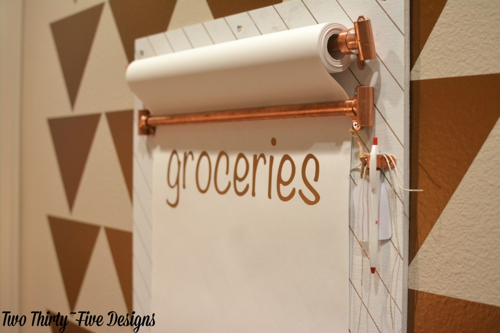 Copper Grocery List by TwoThirtyFiveDesigns.com