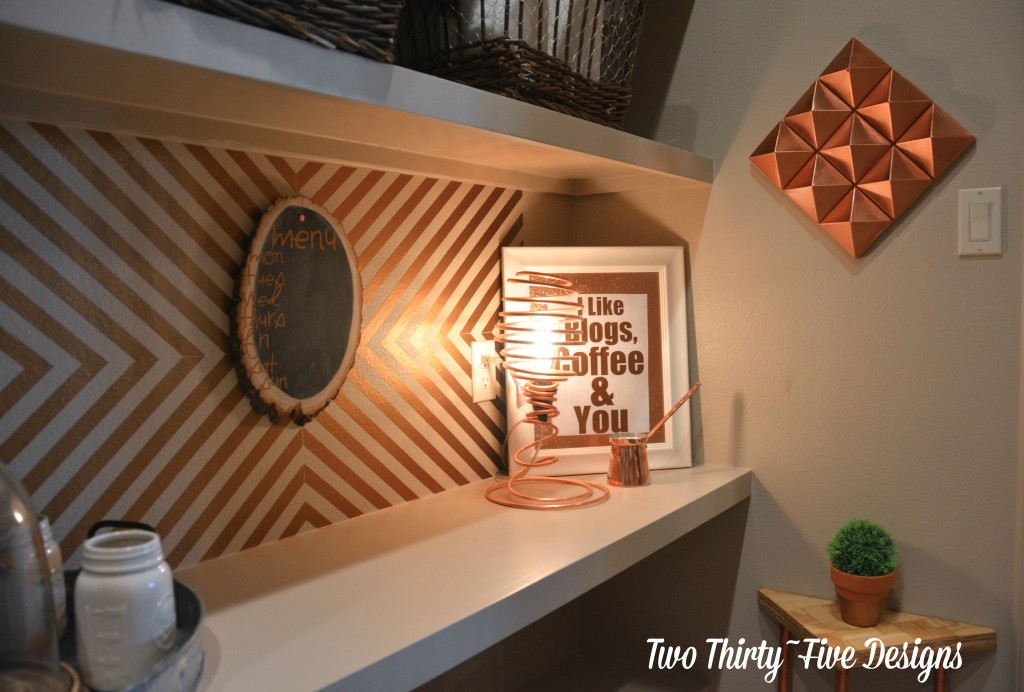 Copper Pyramid Wall Art - Two Thirty-Five Designs