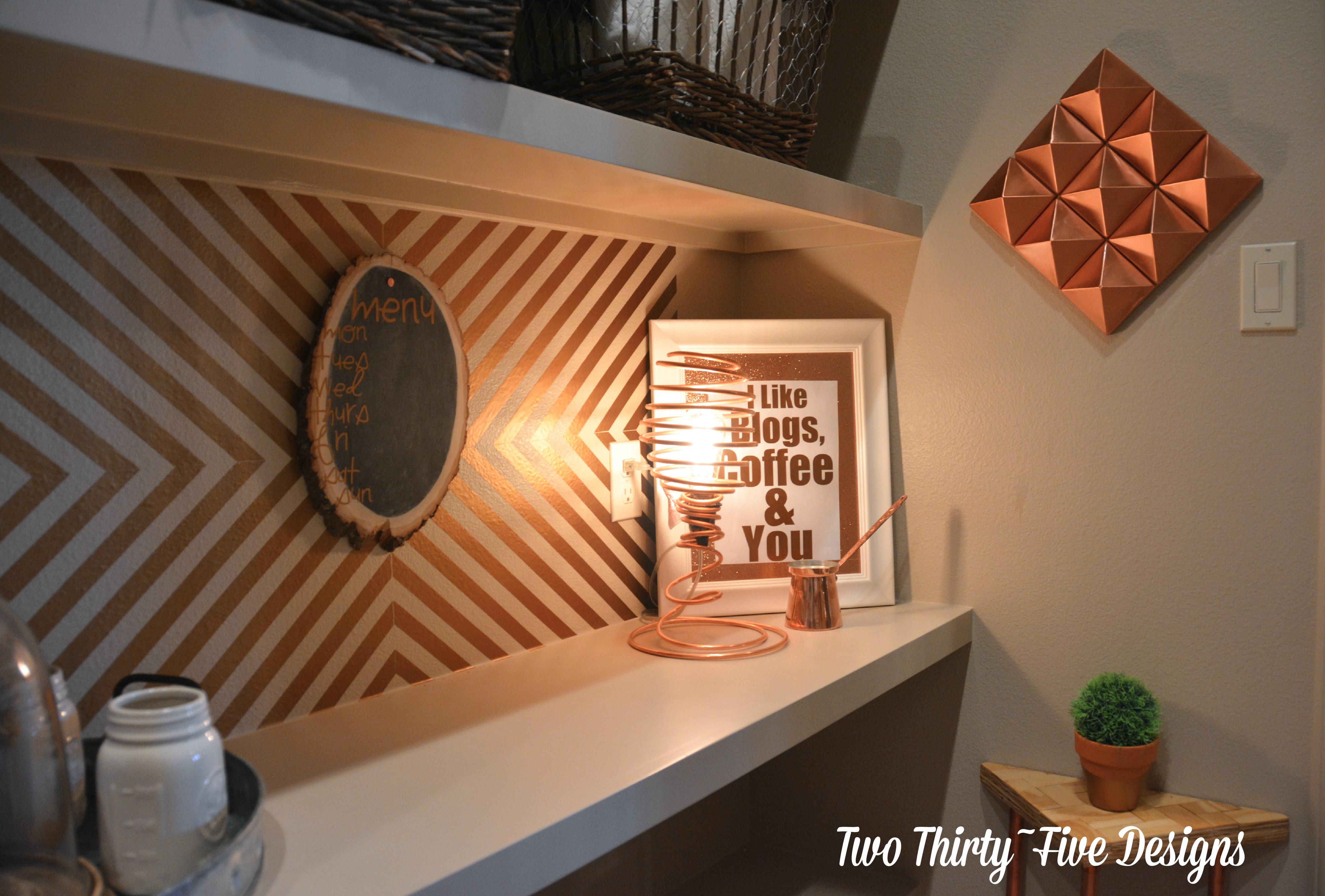 Copper Pyramid Wall Art