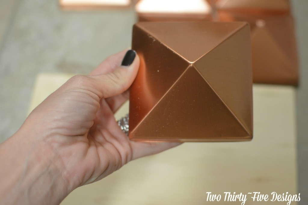 Copper Pyraminds TwoThirtyFiveDesigns.com