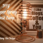 DIY Copper Spring Desk Lamp TwoThirtyFiveDesigns