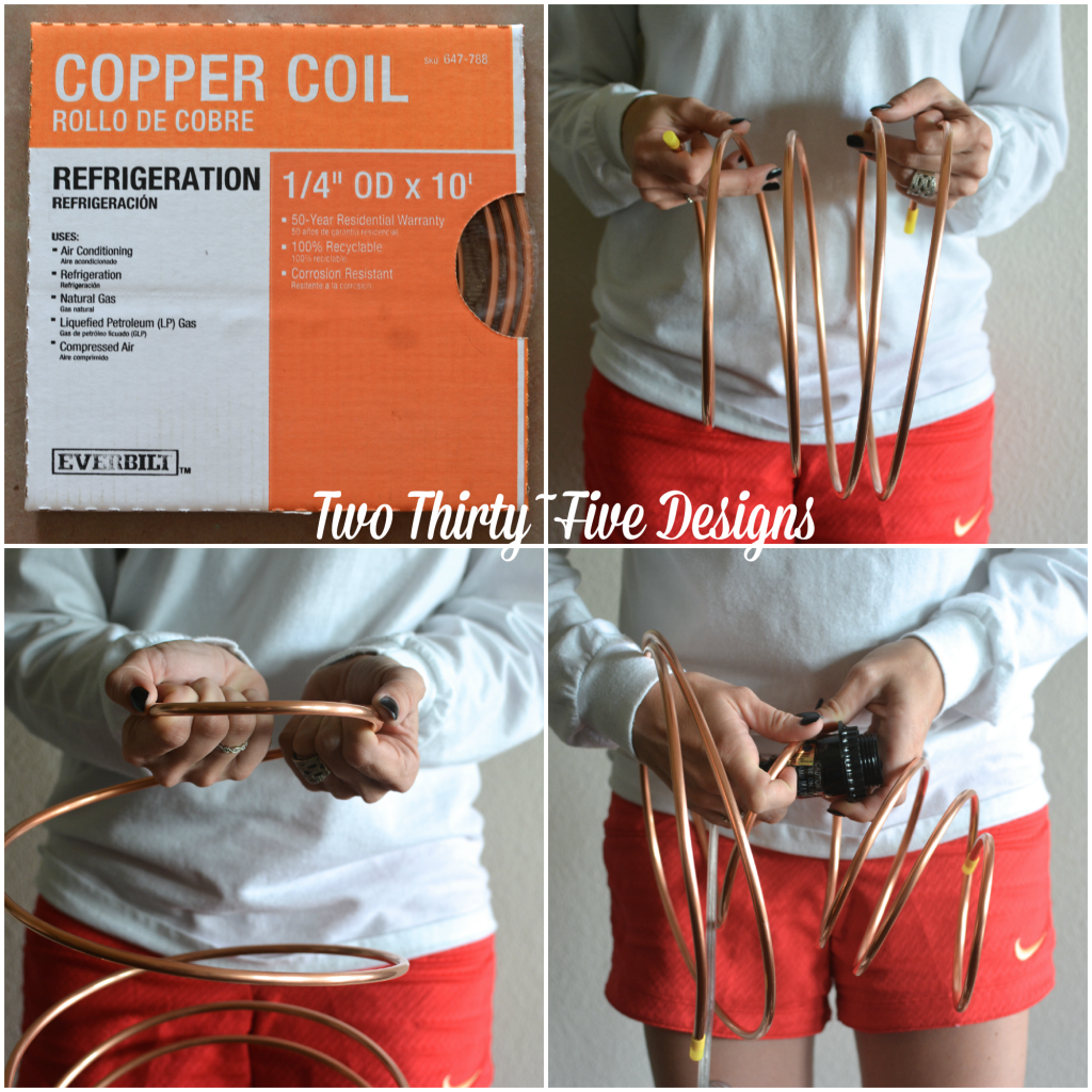 DIY Copper Spring Desk Lamp TwoThirtyFiveDesigns.com
