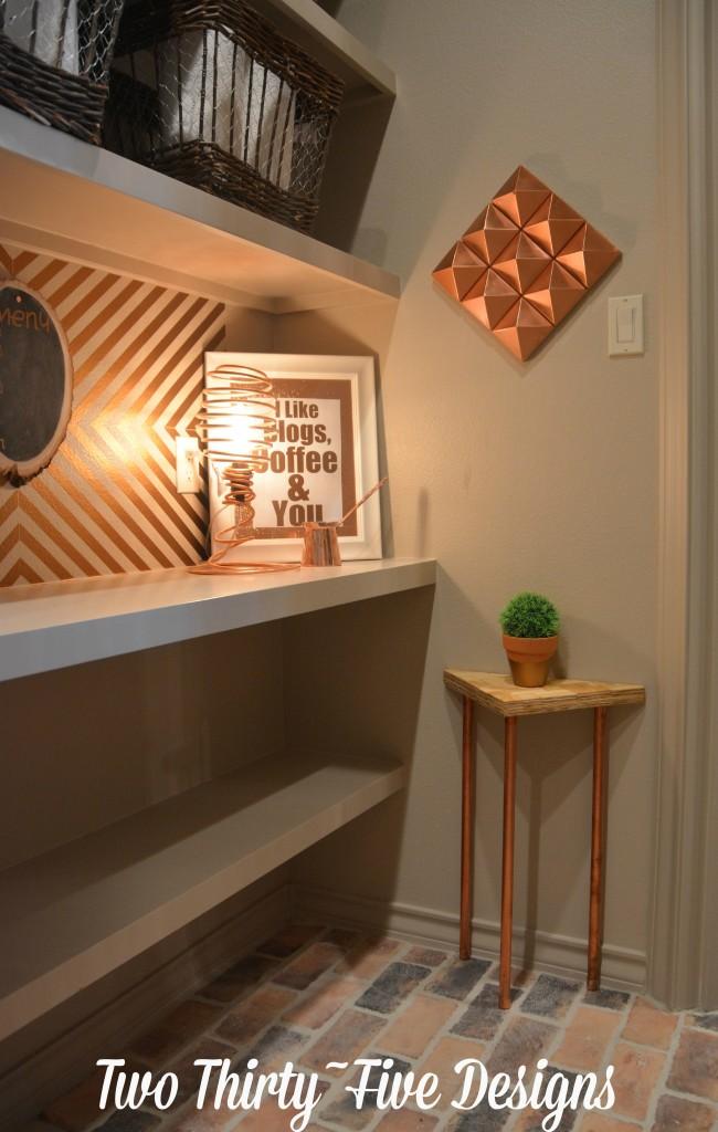 DIY Copper Spring Light TwoThirtyFiveDesigns.com