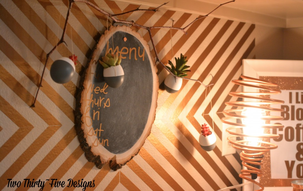 DIY Dipped Egg Shell Succulent Wall Garden by TwoThirtyFiveDesigns.com