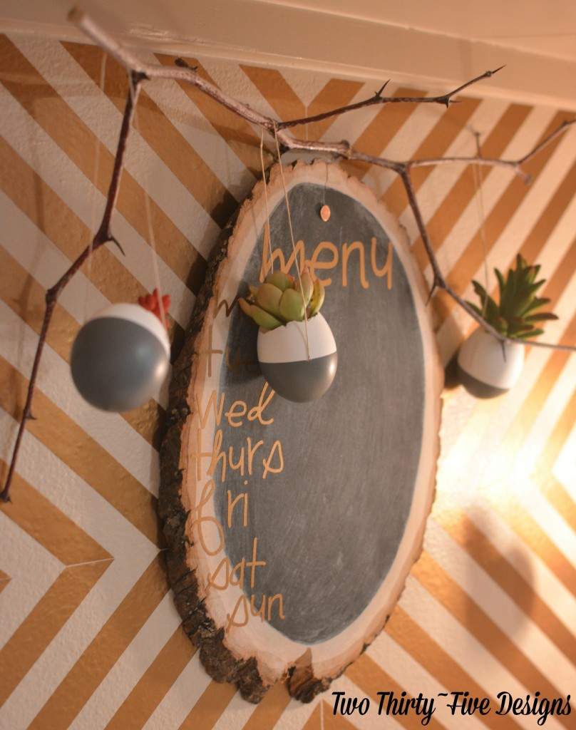 DIY Dipped Egg Shell Succulent Wall Garden with TwoThirtyFiveDesigns.com