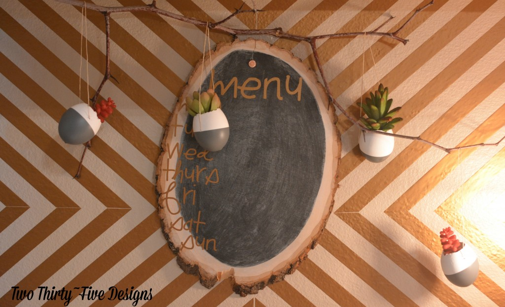 DIY Dipped EggShell Succulent Wall Garden by TwoThirtyFiveDesigns.com