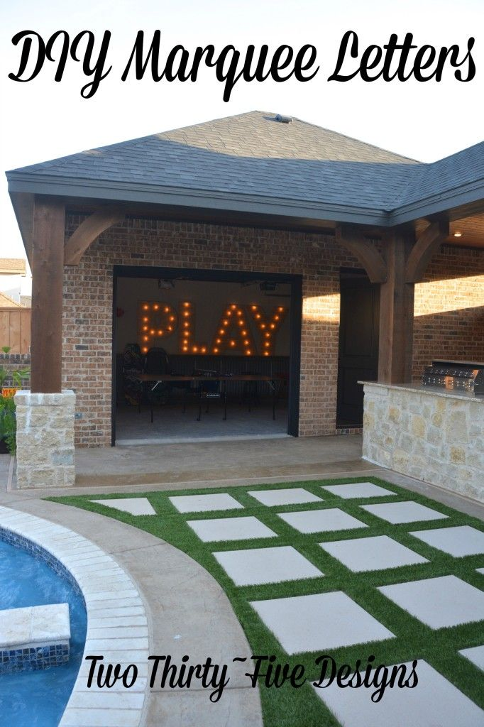 DIY Marquee Letters by TwoThirtyFiveDesigns.com