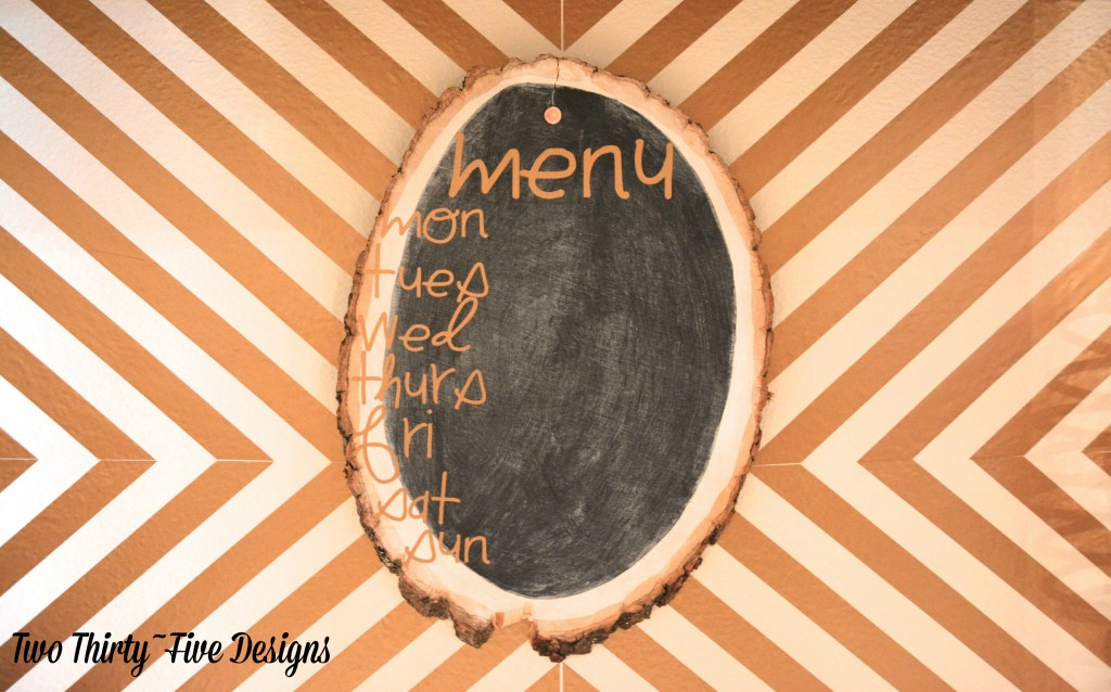 DIY Wooden Chalkboard Menu by TwoThirtyFiveDesigns.com