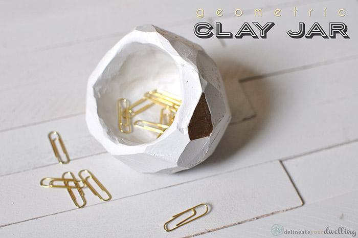 Geometirc Clay Jar TwoThirtyFiveDesigns.com