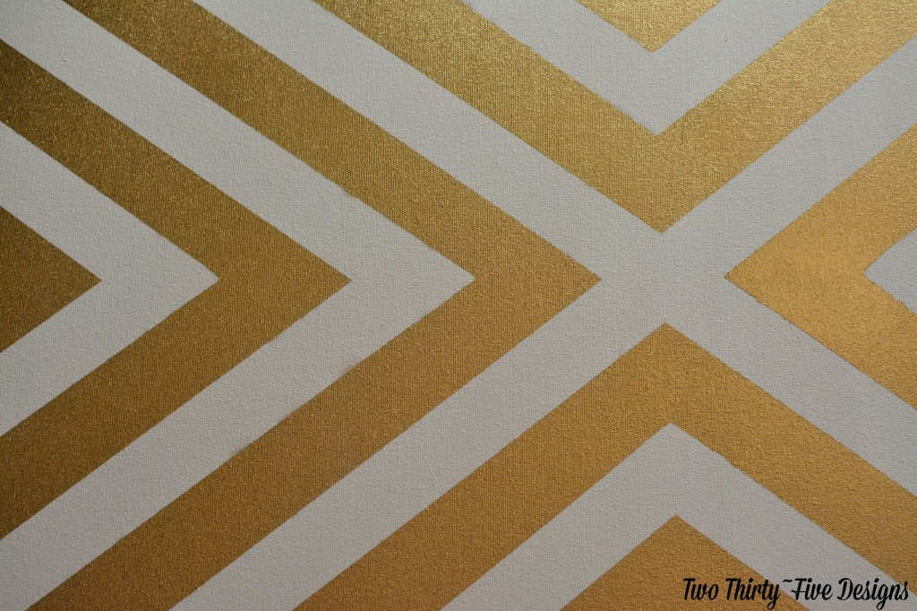 Gold Painted Patterned Canvas by TwoThirtyFiveDesigns.com