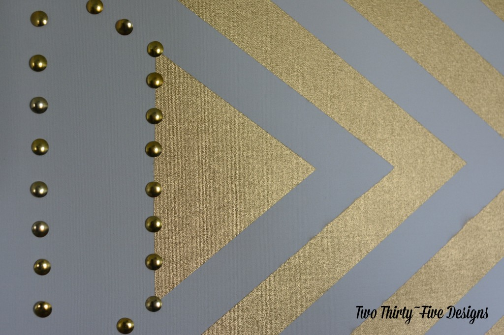 Gold Studded Wall Art TwoThirtyFiveDesigns.com