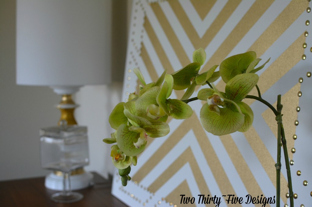 Gold Studded Wall Art by TwoThirtyFiveDesigns.com