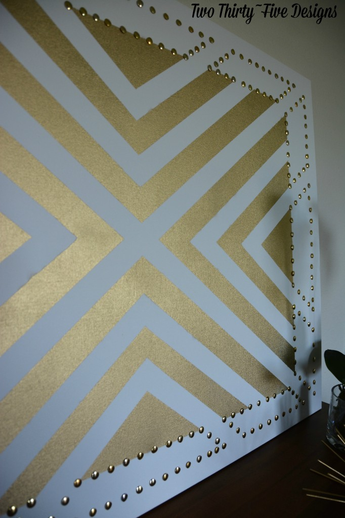 Gold Studded Wall Art with TwoThirtyFiveDesigns.com