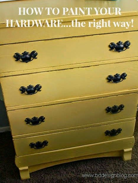 How To Paint Your Hardware The Right Way TwoThirtyFiveDesigns.com