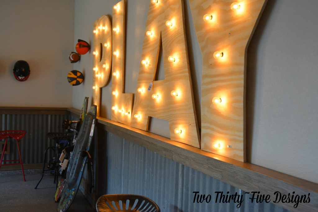 Large DIY Marquee Letters by TwoThirtyFiveDesigns.com