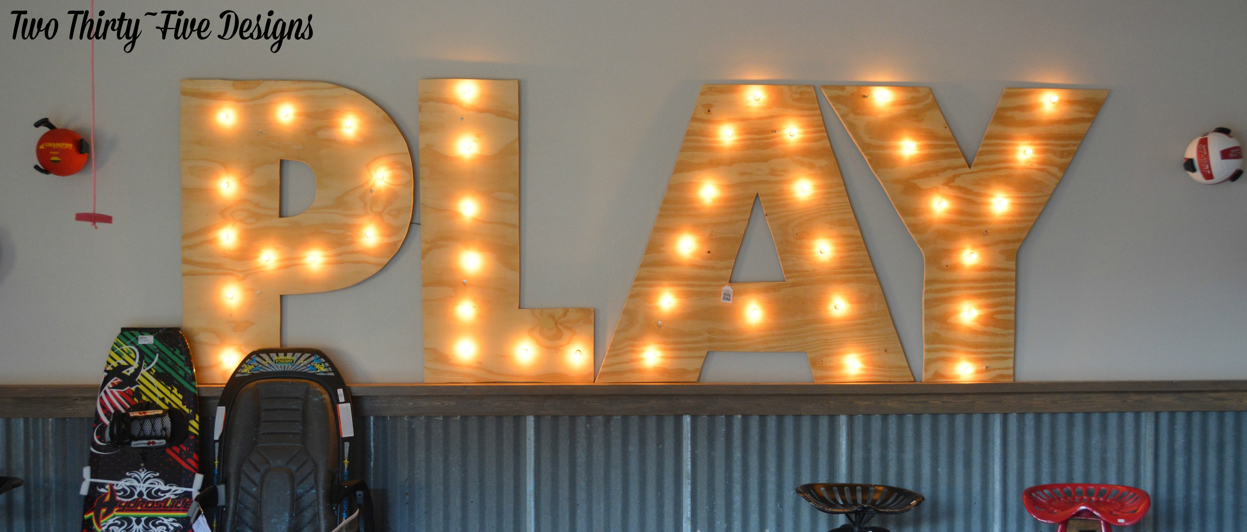 DIY Marquee Letters - Two Thirty-Five Designs