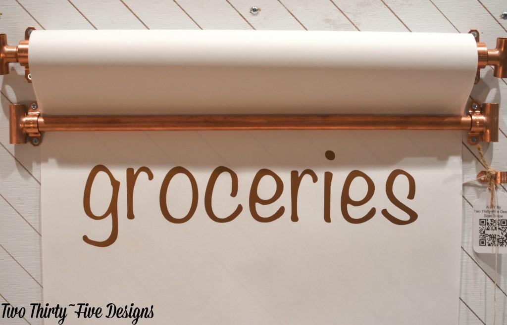 Metallic Grocery List TwoThirtyFiveDesigns.com