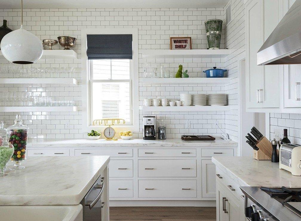 Novogratz Monochromatic Kitchen TwoThirtyFiveDesigns.com