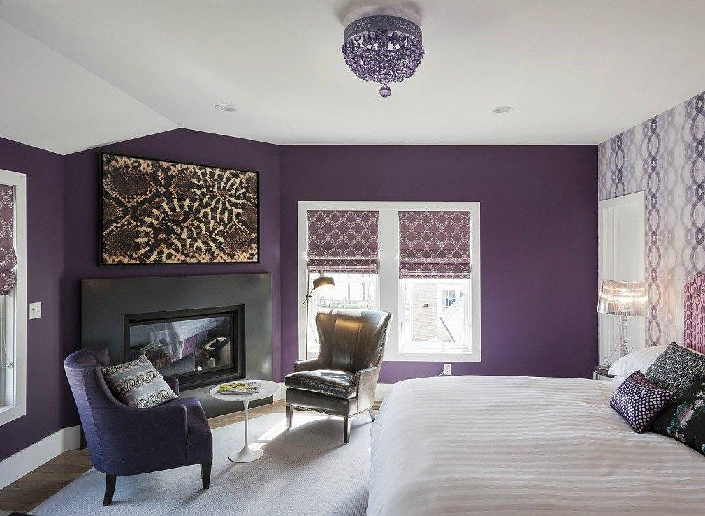 Novogratz Purple Bedroom TwoThirtyFiveDesigns.com