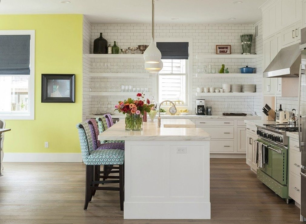 Novogratz Yellow Kitchen TwoThirtyFiveDesigns.com