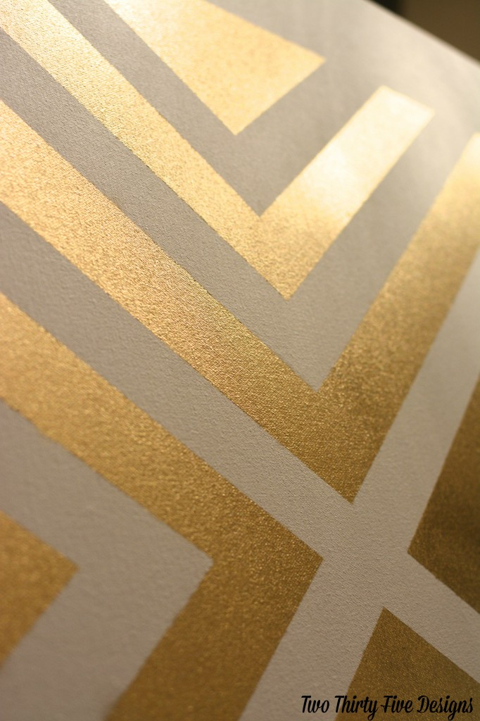 Painted Gold Patterned Canvas TwoThirtyFiveDesigns.com