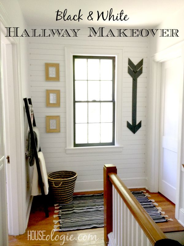 Black & White Hallway Makeover TwoThirtyFiveDesings.com