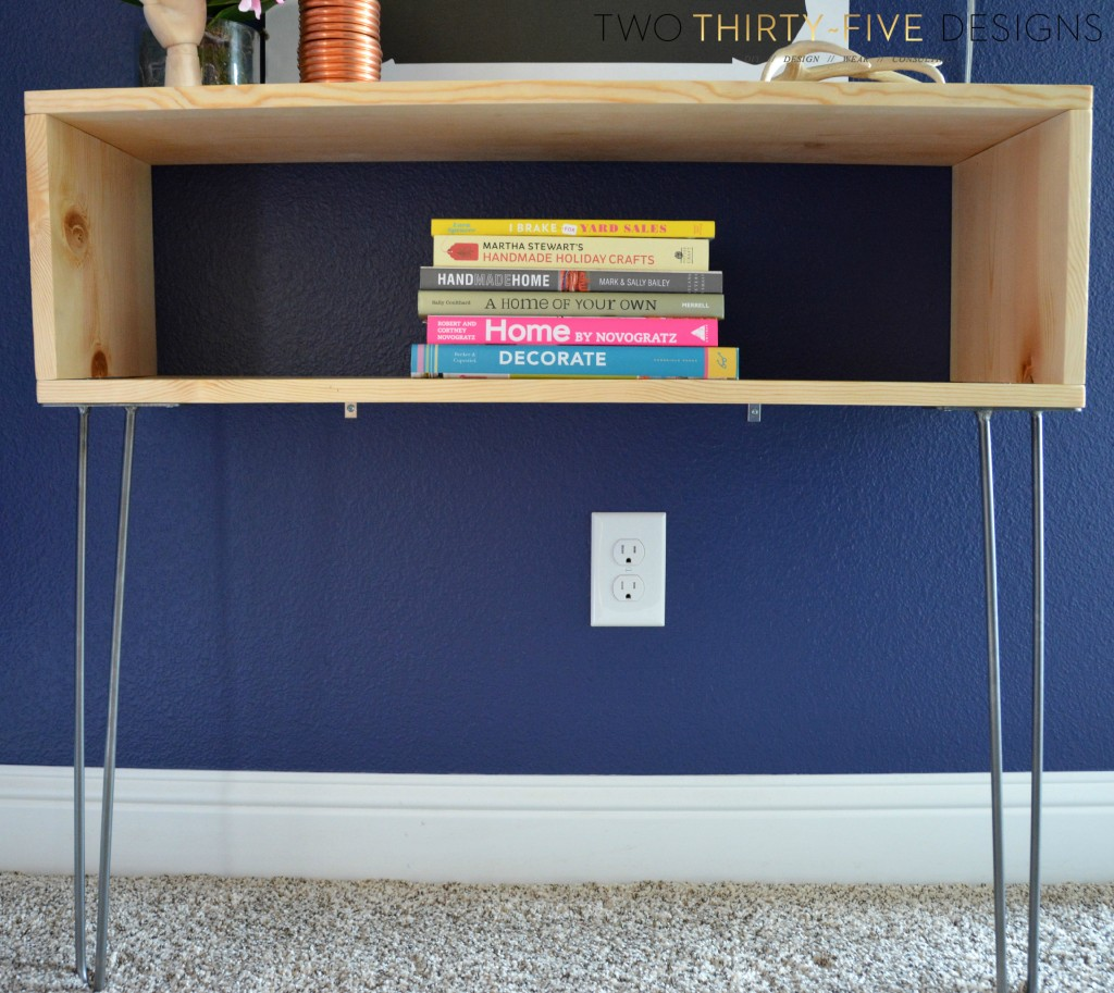 DIY Hairpin Console by TwoThirtyFiveDesigns