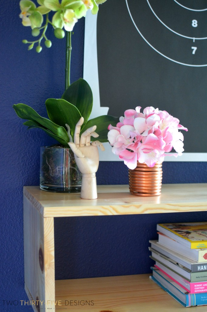 DIY Hairpin Console Table and Ryobi Airstrike Stapler Giveaway