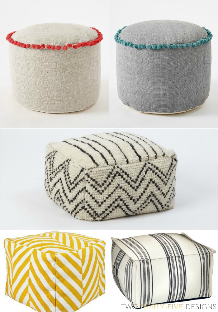 Steal It Saturdays-West Elm & Target Poofs TwoThirtyFiveDesigns